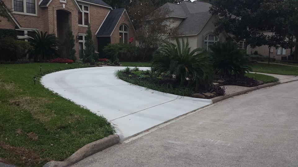 concrete driveway extension
